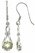 0.83ctw Lemon Quartz Earrings in Sterling Silver