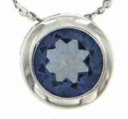 "0.85ctw Mystic Iolite Blue Pendant in Sterling Silver with 18"" Chain"