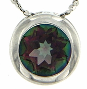 "0.85ctw Mystic Pendant in Sterling Silver with 18"" Chain"