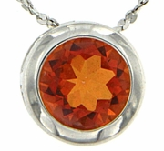 "0.85ctw Mystic Sunstone Pendant in Sterling Silver with 18"" Chain"