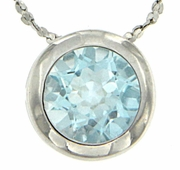 "0.85ctw Sky Topaz Pendant in Sterling Silver with 18"" Chain"