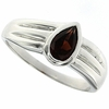 0.88ctw Garnet Ring in Sterling Silver