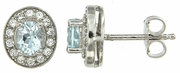 0.89ctw Sky Topaz Earrings in Sterling Silver