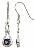 0.90ctw Amethyst Earrings in Sterling Silver