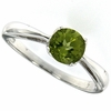 0.90ctw Peridot Ring in Sterling Silver