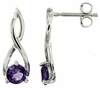 0.91ctw Amethyst Earrings in Sterling Silver
