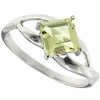 0.91ctw Lemon Quartz Ring in Sterling Silver
