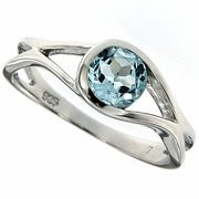 0.91ctw Sky Topaz Ring in Sterling Silver