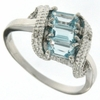 0.92ctw Sky Topaz and Diamond Ring in Sterling Silver
