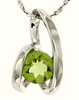 "0.94ctw Peridot Pendant in Sterling Silver with 18"" Chain"