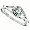 0.95ctw White Topaz and Diamond Ring in Sterling Silver