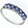 0.97ctw Tanzanite Ring in Sterling Silver