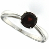 0.98ctw Garnet Ring in Sterling Silver