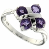 0.99ctw Amethyst Ring in Sterling Silver