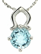 "0.99ctw Sky Topaz Pendant in Sterling Silver with 18"" Chain"