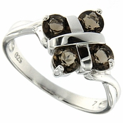 0.99ctw Smoky Topaz Ring in Sterling Silver