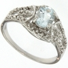 1.00ctw Blue Topaz and Diamond Ring in Sterling Silver