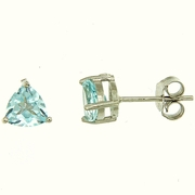 1.00ctw Sky Topaz Stud Earrings in Sterling Silver