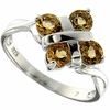 1.01ctw Citrine Ring in Sterling Silver