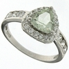 1.01ctw Green Amethyst and White Sapphire Ring in Sterling Silver