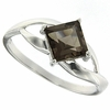 1.01ctw Smoky Topaz Ring in Sterling Silver