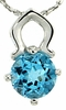 "1.01ctw Swiss Blue Topaz Pendant in Sterling Silver with 18"" Chain"