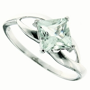 1.02ctw Green Amethyst Ring in Sterling Silver