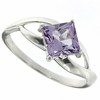 1.03ctw Amethyst Ring in Sterling Silver