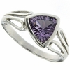 1.04ctw Amethyst Ring in Sterling Silver