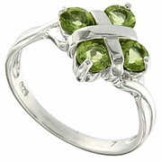1.04ctw Peridot Ring in Sterling Silver