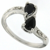 1.04ctw Sapphire Ring in Sterling Silver