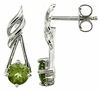 1.05ctw Peridot Earrings in Sterling Silver