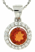 "1.08ctw Mystic Sunstone Pendant in Sterling Silver with 18"" Chain"