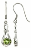 1.08ctw Peridot Earrings in Sterling Silver