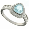 1.08ctw Sky Topaz  and White Sapphire Ring in Sterling Silver