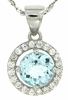 "1.08ctw Sky Topaz Pendant in Sterling Silver with 18"" Chain"