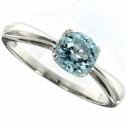1.08ctw Sky Topaz Ring in Sterling Silver