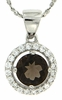 "1.08ctw Smokey Quartz Pendant in Sterling Silver with 18"" Chain"