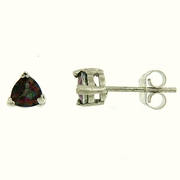 1.10ctw Mystic Stud Earrings in Sterling Silver
