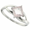 1.11ctw Rose Quartz Ring in Sterling Silver