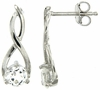 1.11ctw White Topaz Earrings in Sterling Silver