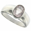 1.13ctw Rose Quartz Ring in Sterling Silver