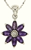 "1.14ctw Amethyst Pendant in Sterling Silver with 18"" Chain"