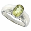 1.15ctw Lemon Quartz Ring in Sterling Silver