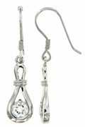1.15ctw White Topaz Earrings in Sterling Silver