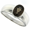 1.18ctw Smoky Topaz Ring in Sterling Silver