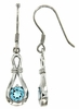1.18ctw Swiss Blue Topaz Earrings in Sterling Silver