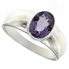 1.19ctw Amethyst Ring in Sterling Silver
