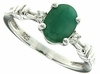 1.20ctw Emerald Ring in Sterling Silver