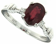 1.20ctw Glass Filled Ruby Ring in Sterling Silver